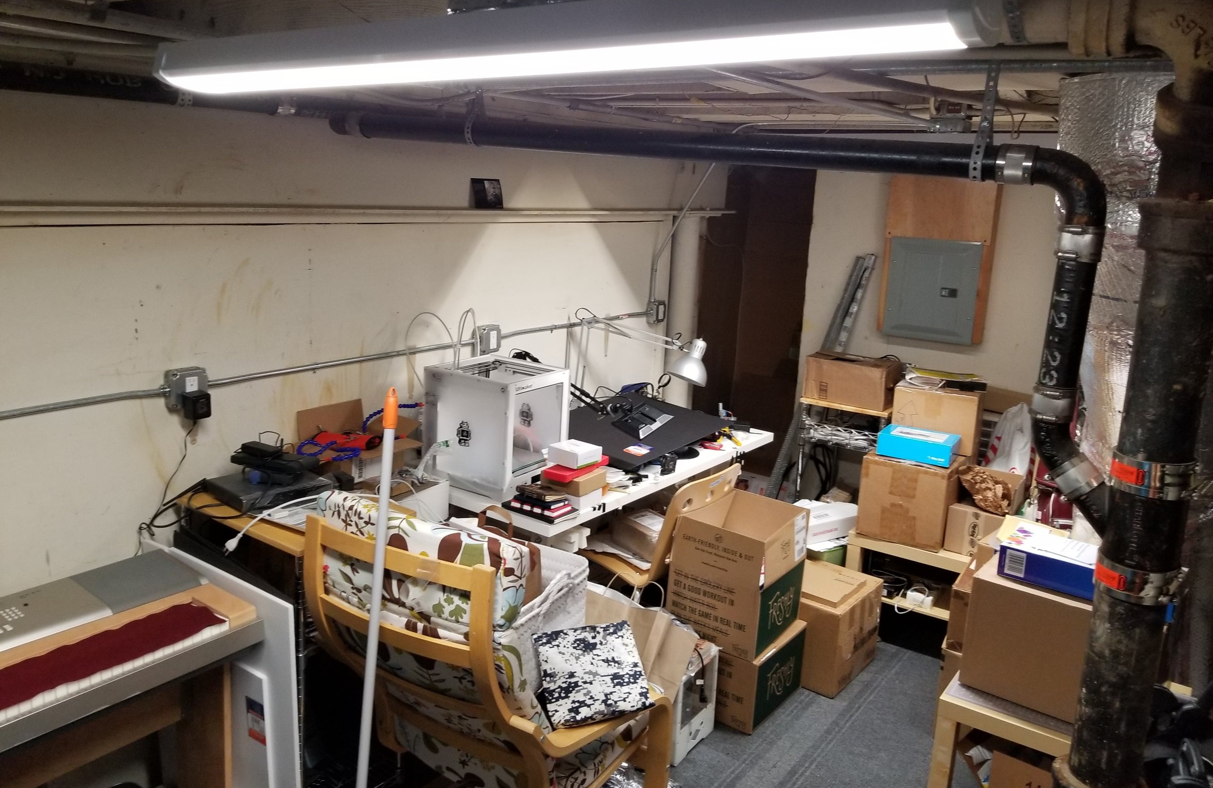 What was once a scary, basement collection-zone became….