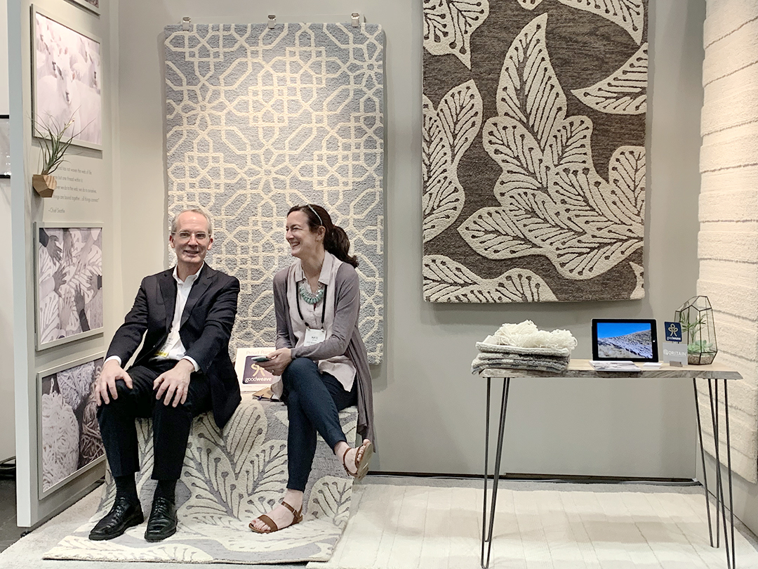 Pete Spain and Kate Spain at the International Contemporary Furniture Fair (ICFF) — May 2019