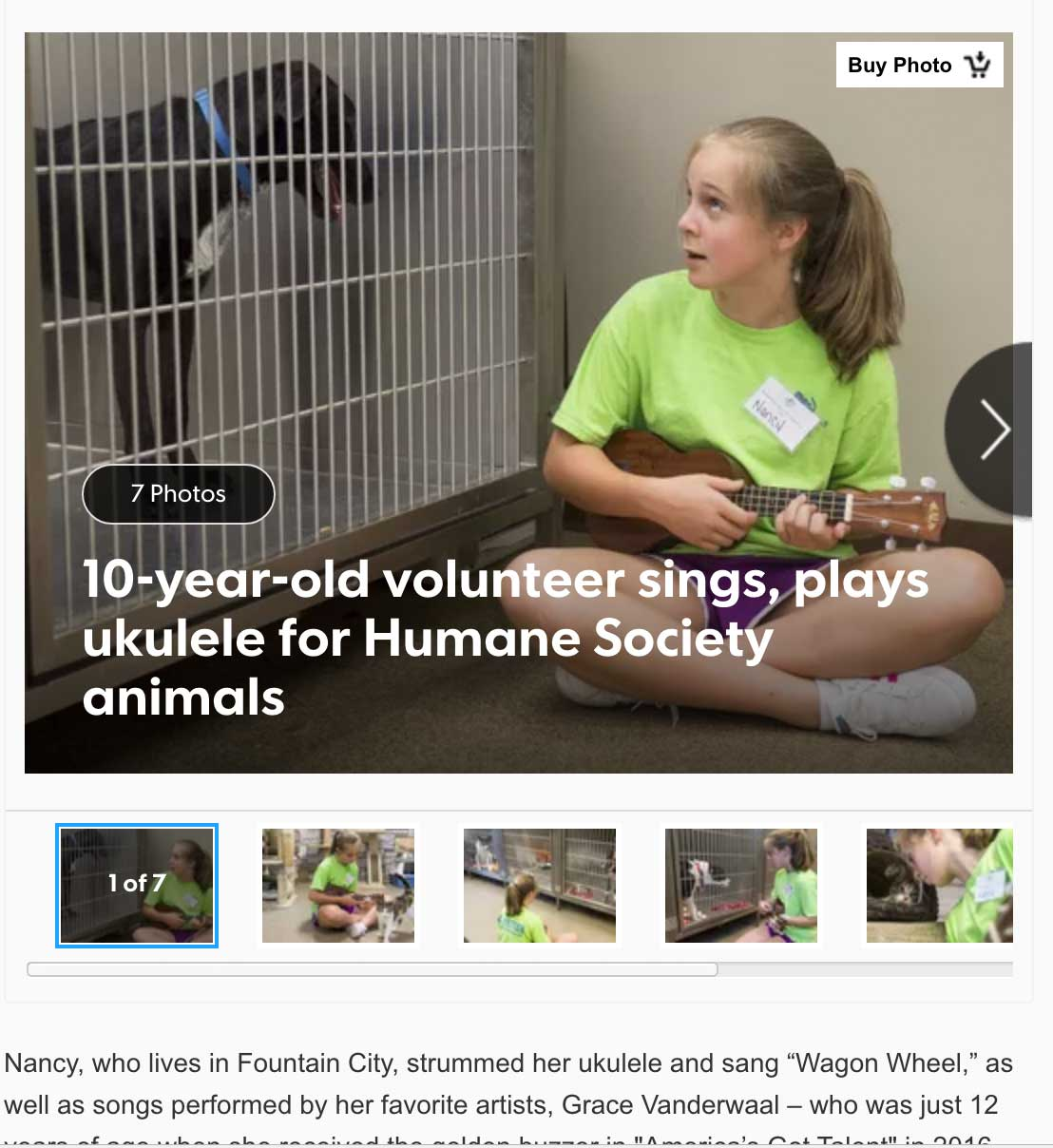 10-Year-Old Plays Music and Sings for Shelter Animals