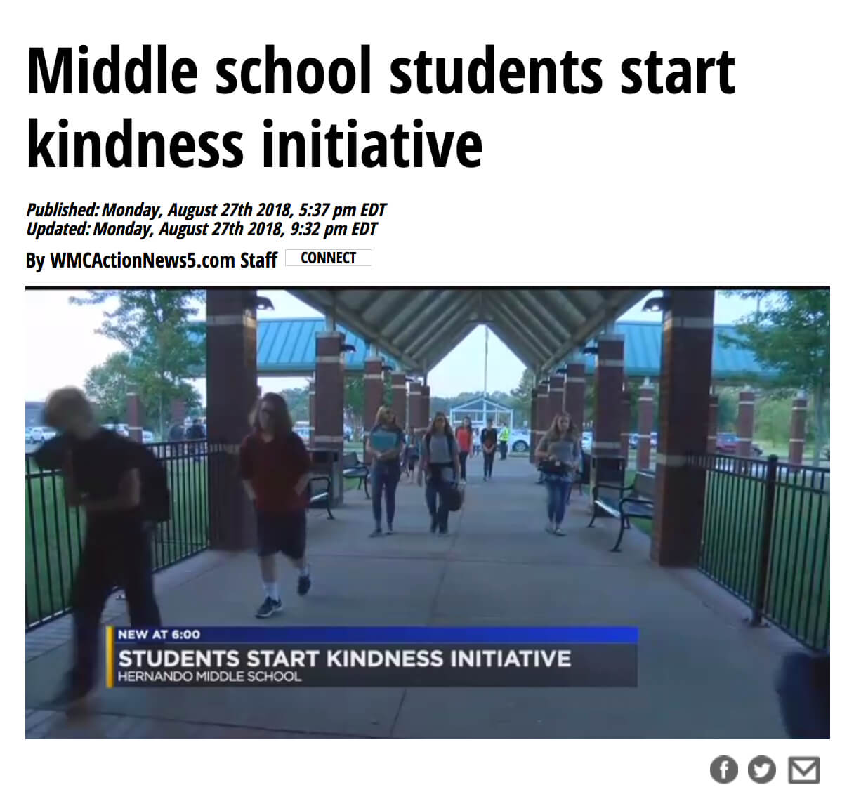 Kindness Initiative Welcome To School
