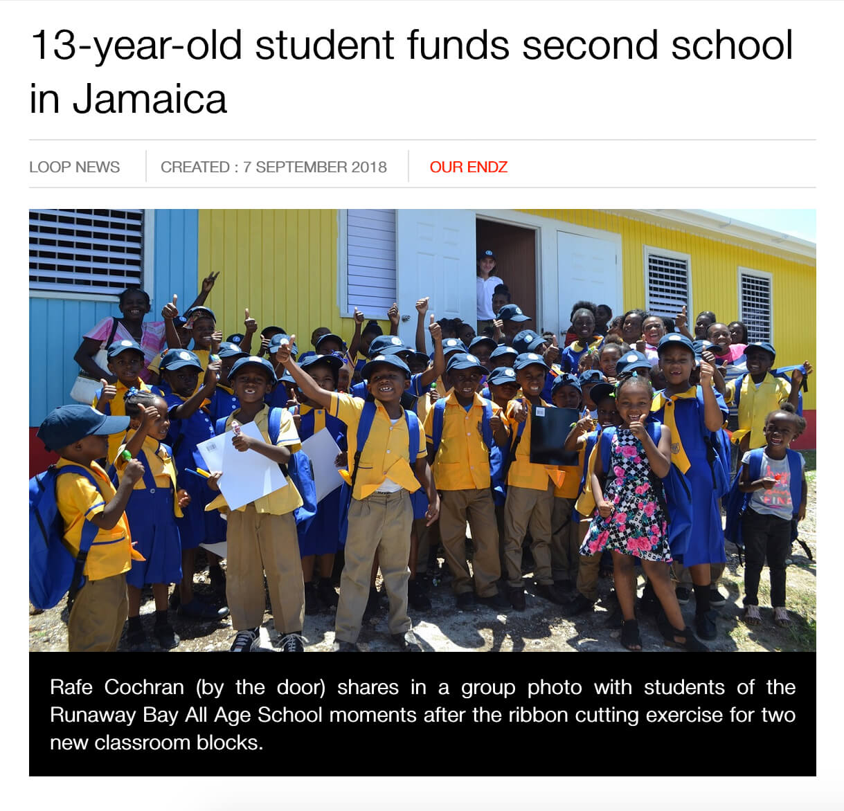 Young Golfer Ray Cochran Builds Schools in Jamaica
