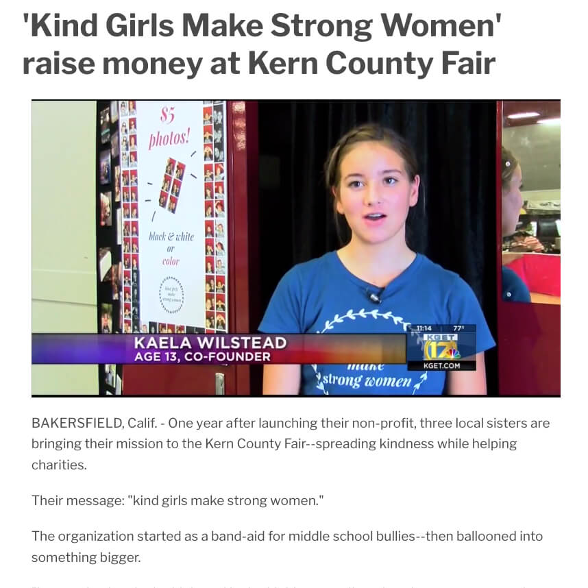 Kind Girls Make Strong Women
