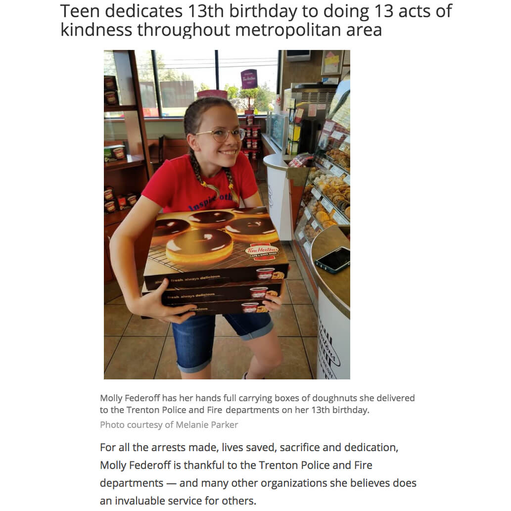 13 Acts of Kindness for 13th Birthday