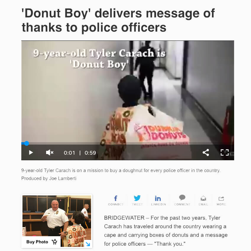 Donut Boy Thanks Police