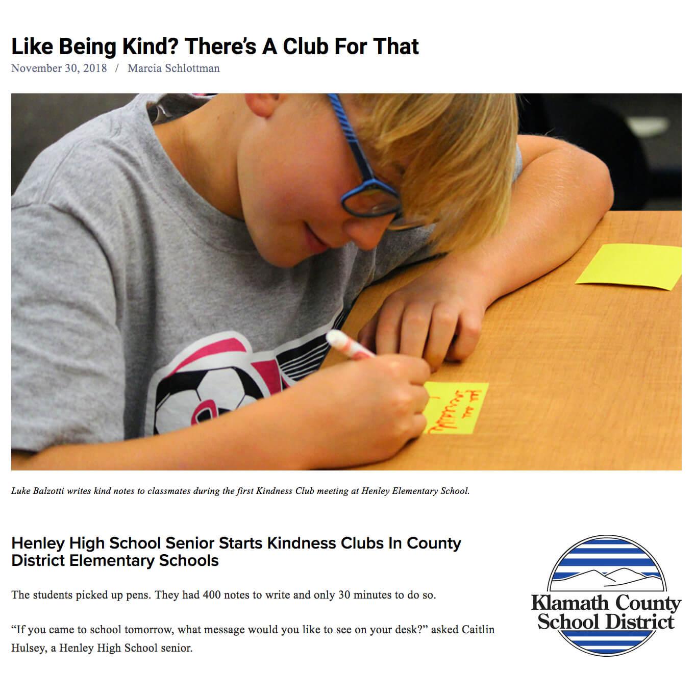 High School Senior Starts Elementary Kindness Clubs.jpg