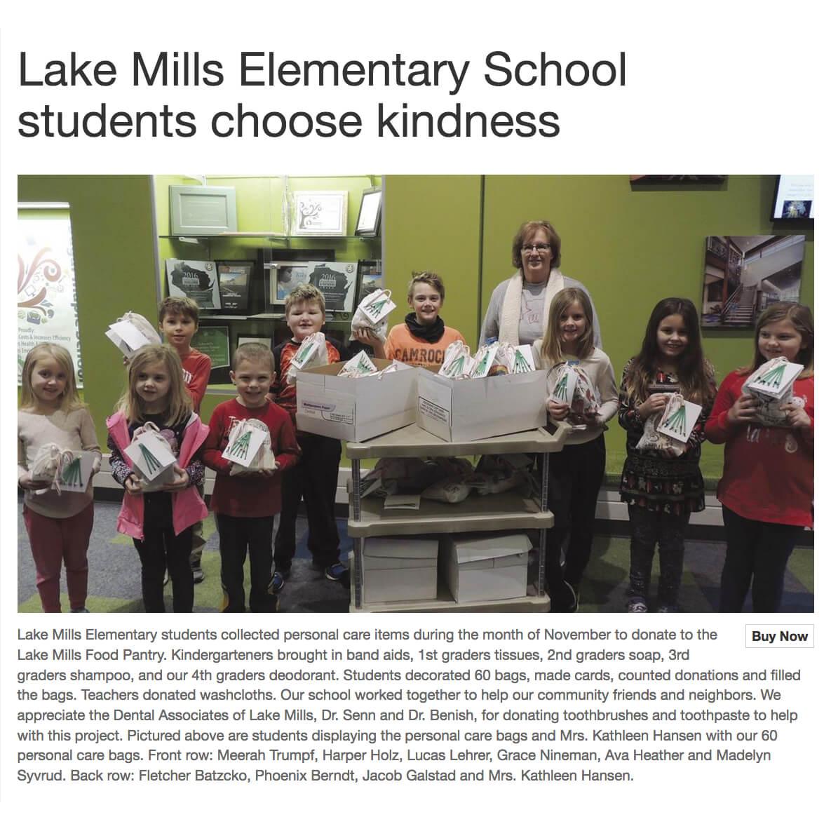 Lake Mills Elementary Food Pantry