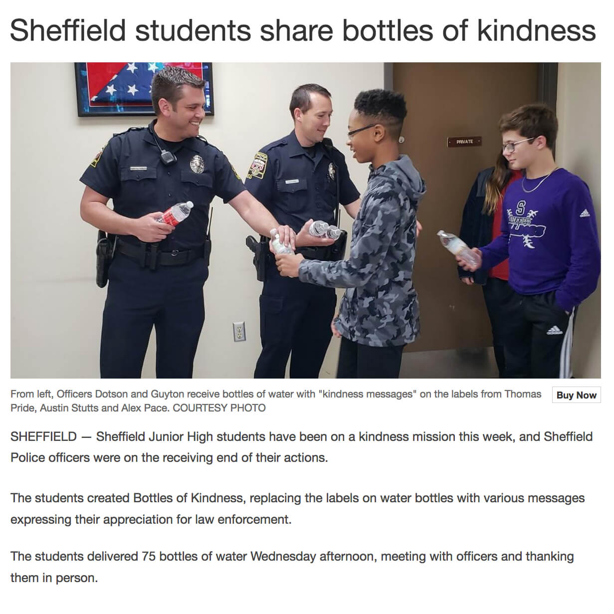 Bottles of Kindness
