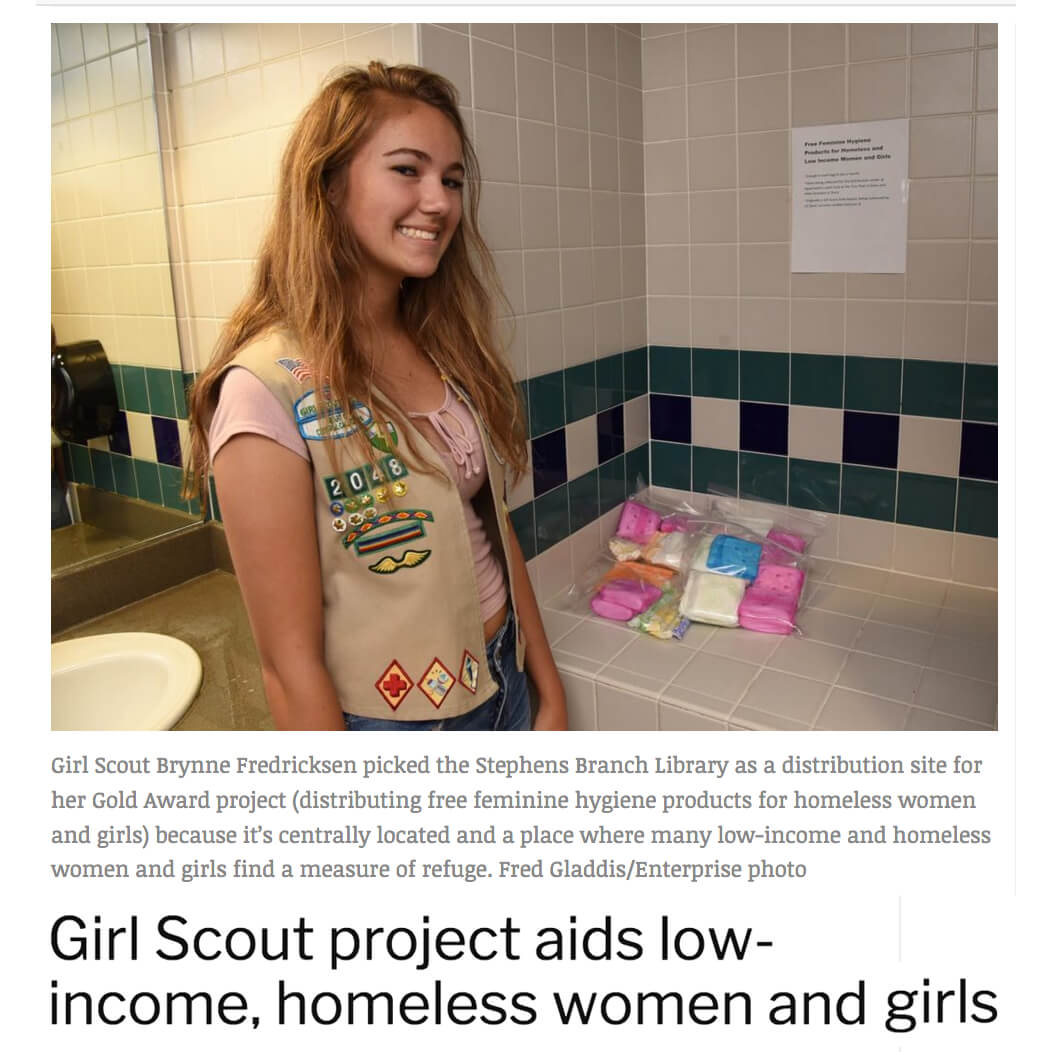 Girl Scout Project for Homeless Women