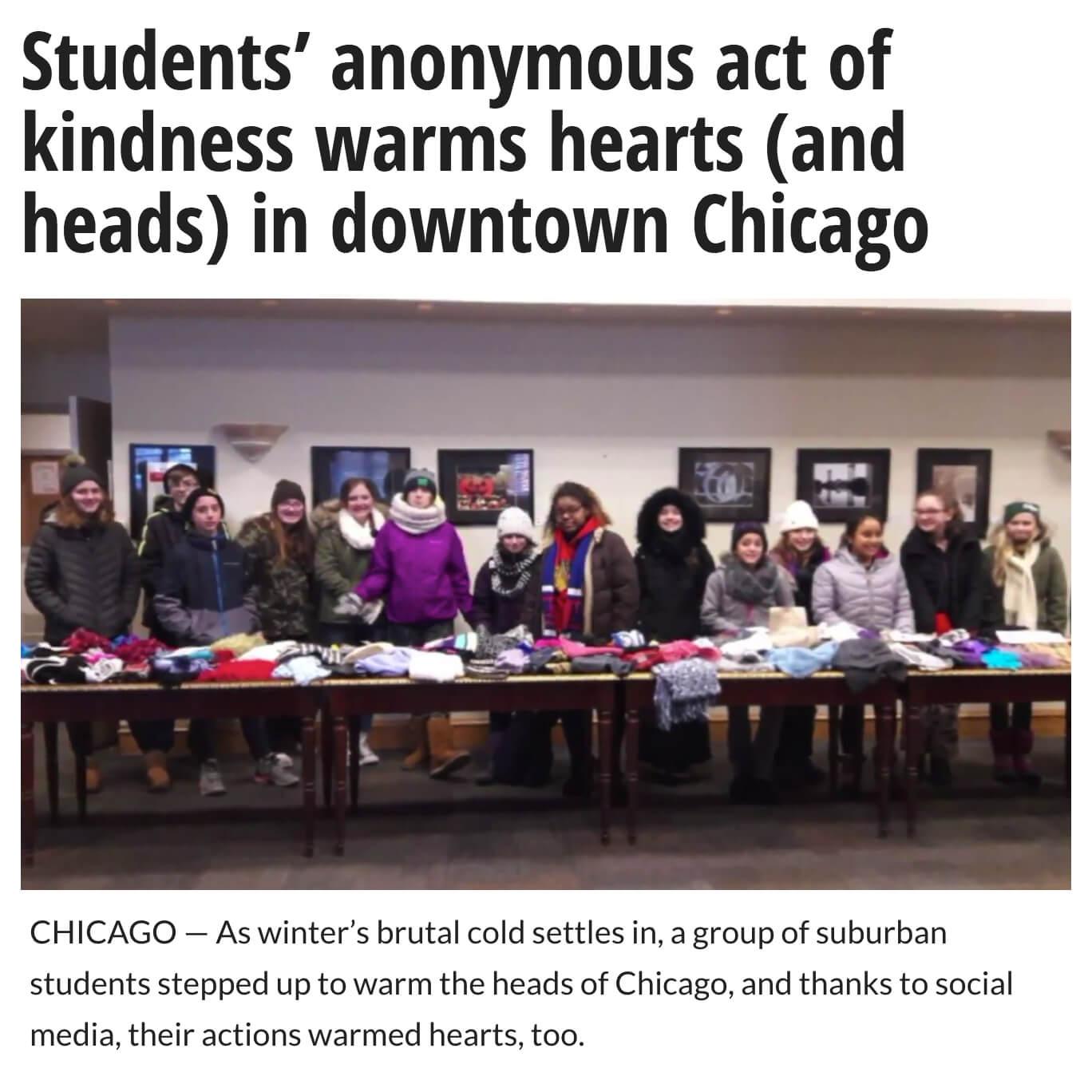 Scarves for Homeless in Chicago