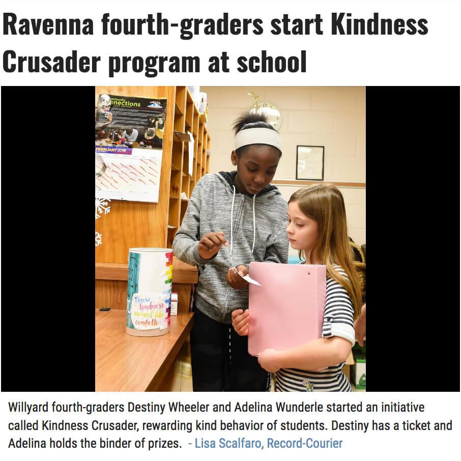 Kindness Crusader program prizes