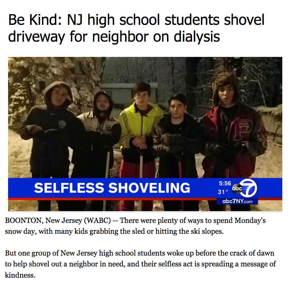 Shovel Driveway Neighbor Dialysis