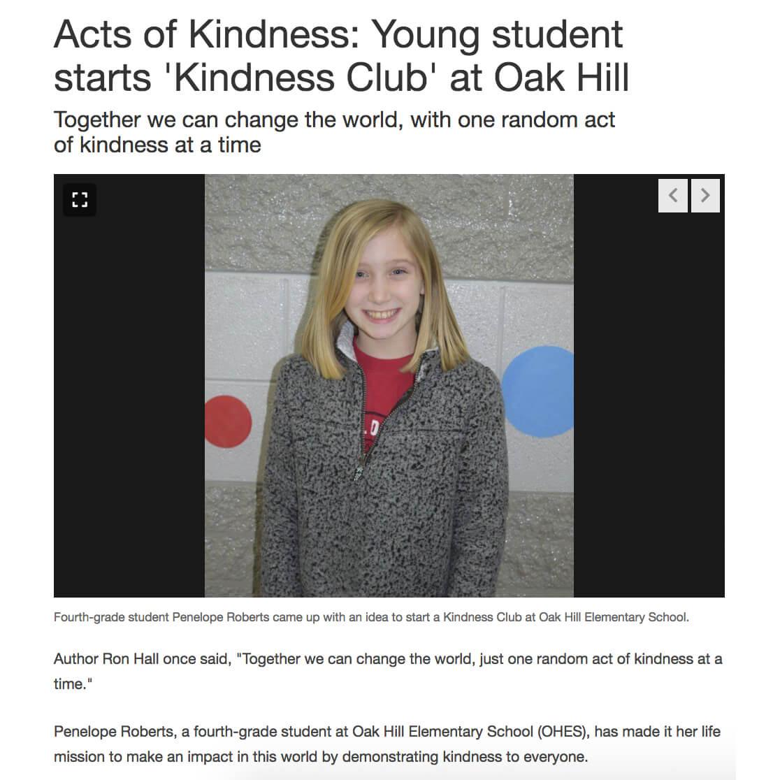 Oak Hill Kindness Club