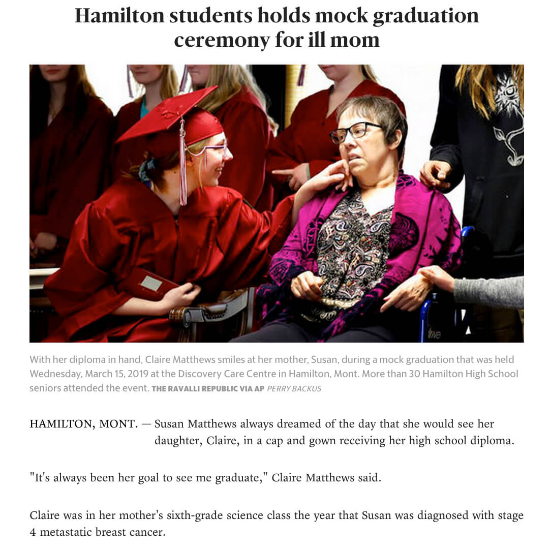 Mock Graduation Ceremony for Dying Mom