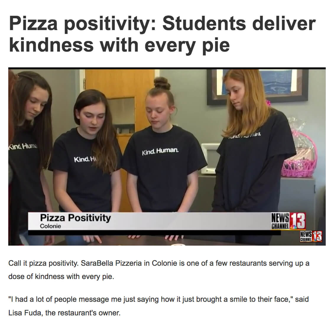 Pizza Kindness