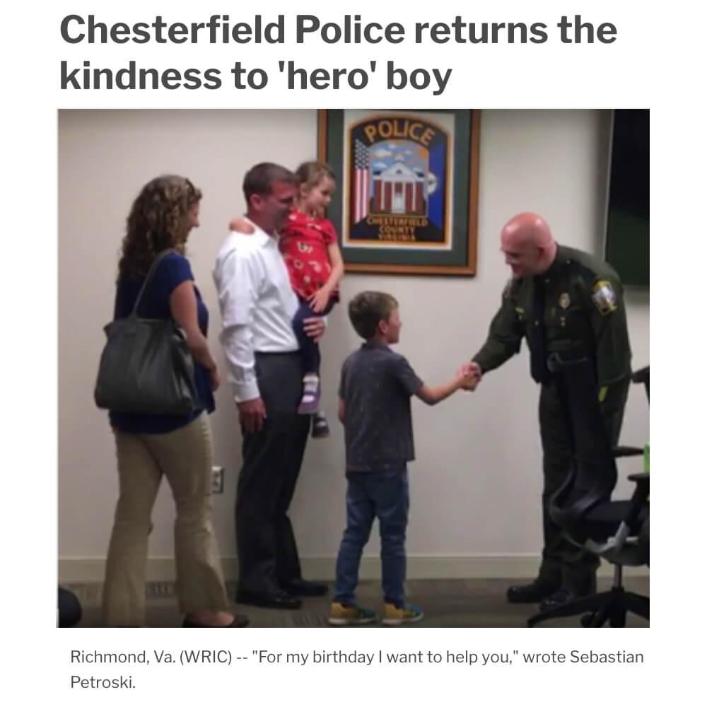 Police Return Favor