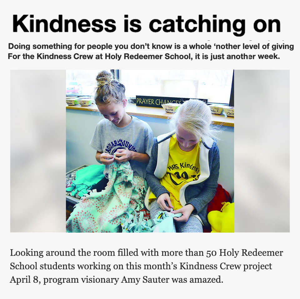 Kindness Crew at Holy Redeemer