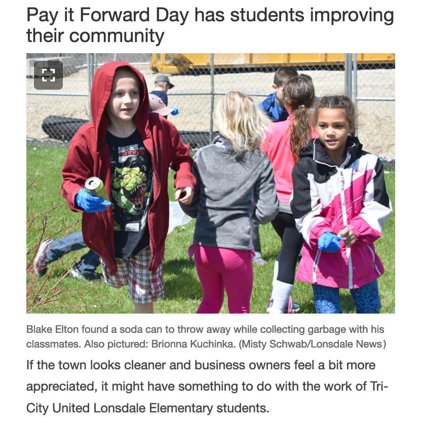 Pay It Forward Day Tri-CityUnited