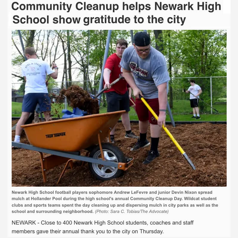 Newark High School Clean Up