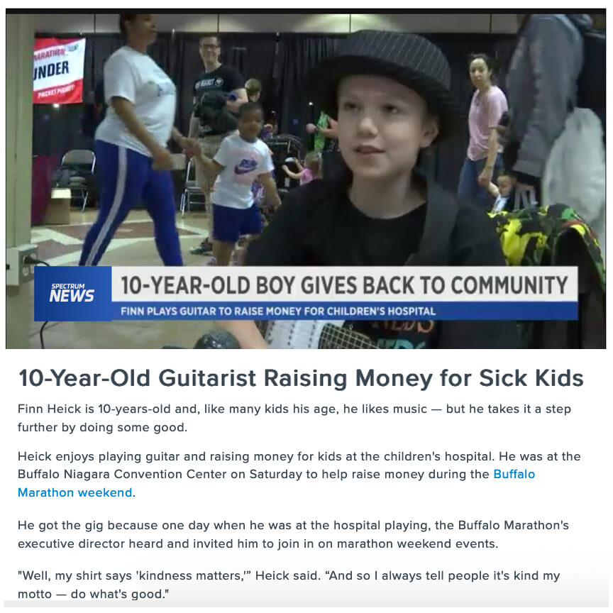 Guitarist Raise Money for Sick Kids