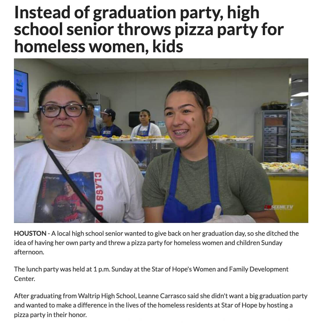 Pizza Party for Homeless
