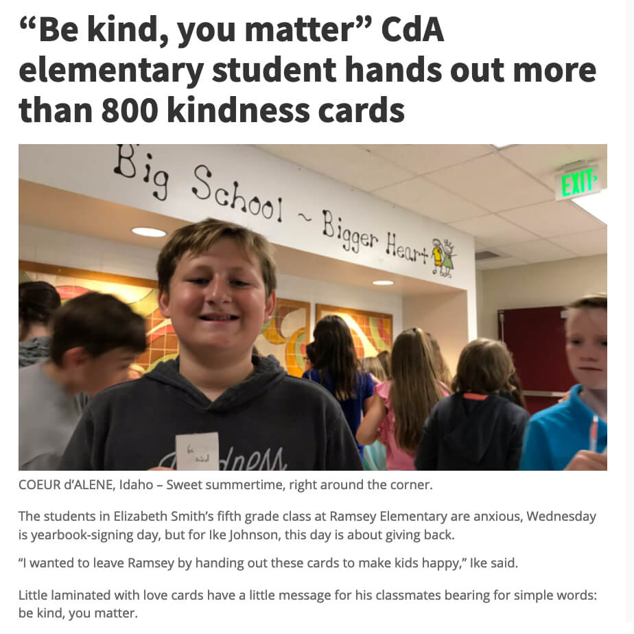 Be Kind You Matter Cards