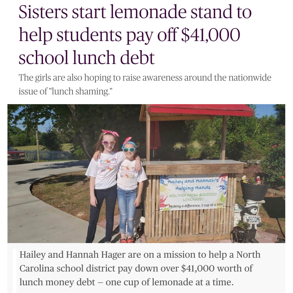 Lemonade Stand for School Lunch