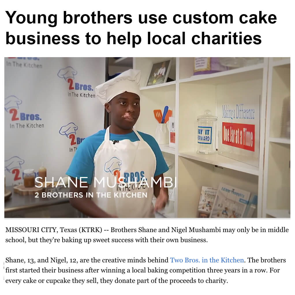 Two Brothers in the Kitchen Give Back