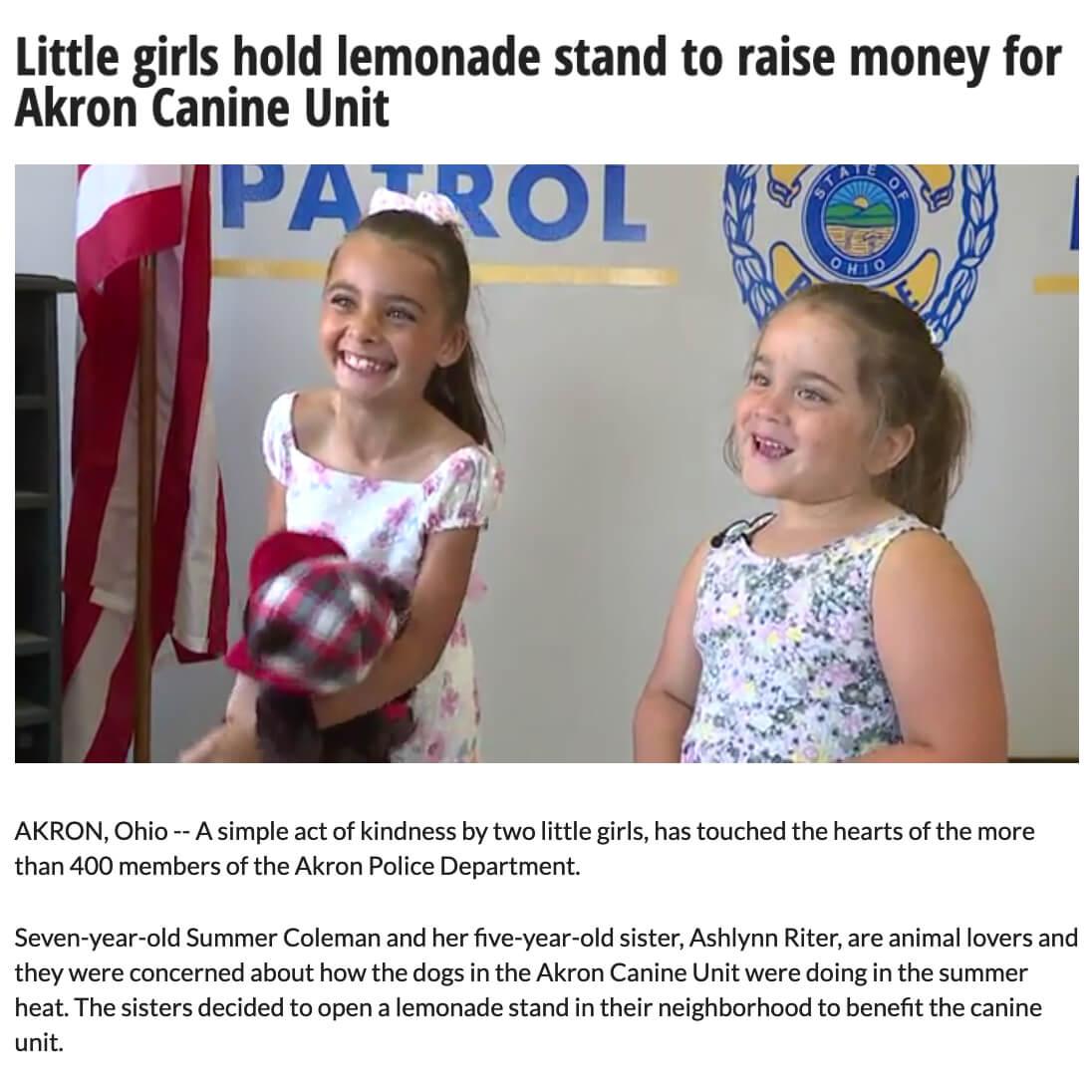 Lemonade Stand for K9 Unit