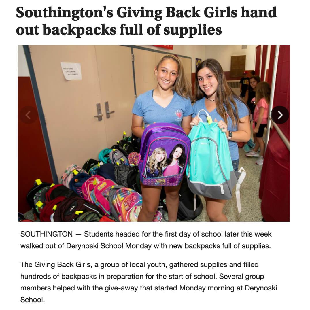 Giving Back Girls