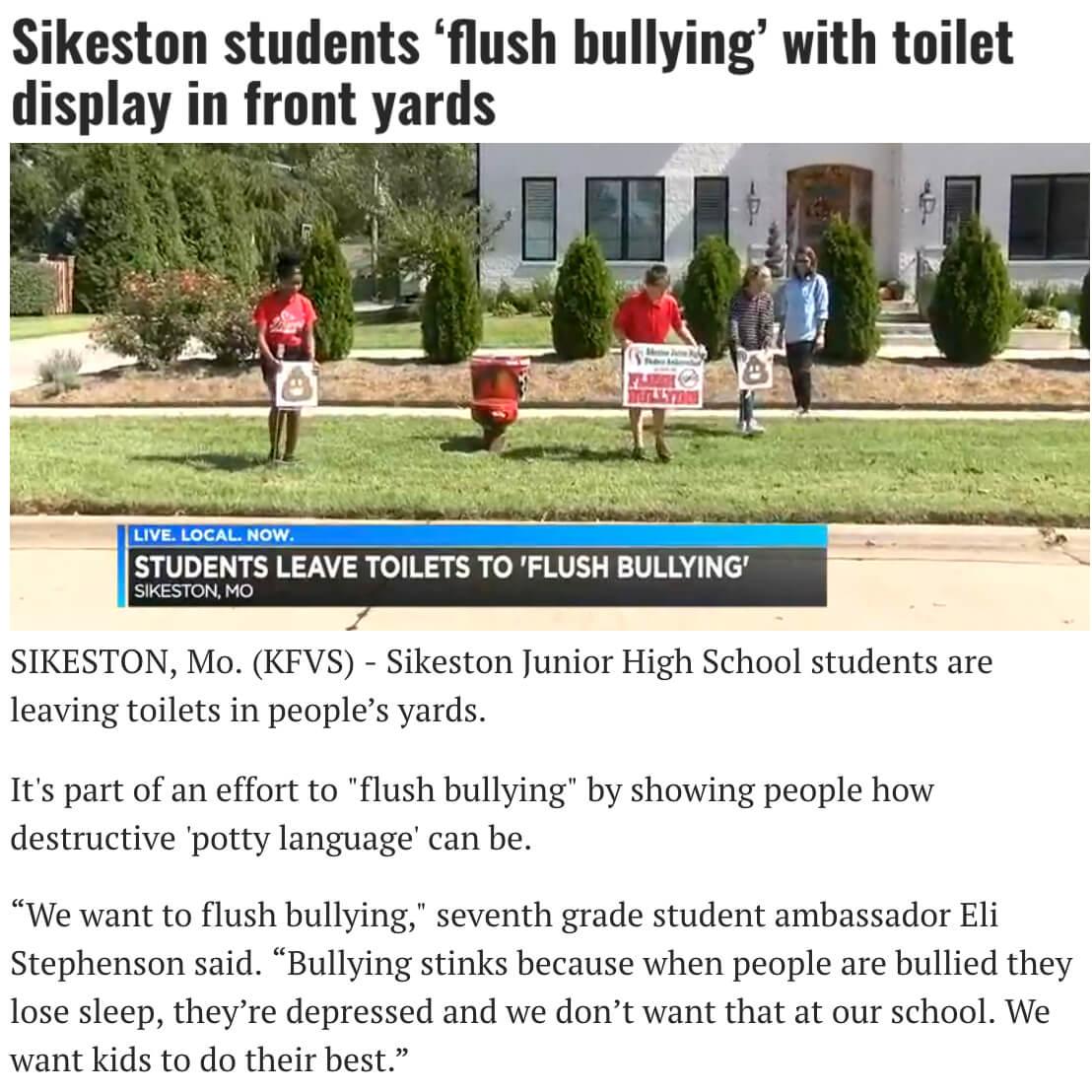 Flush Bullying