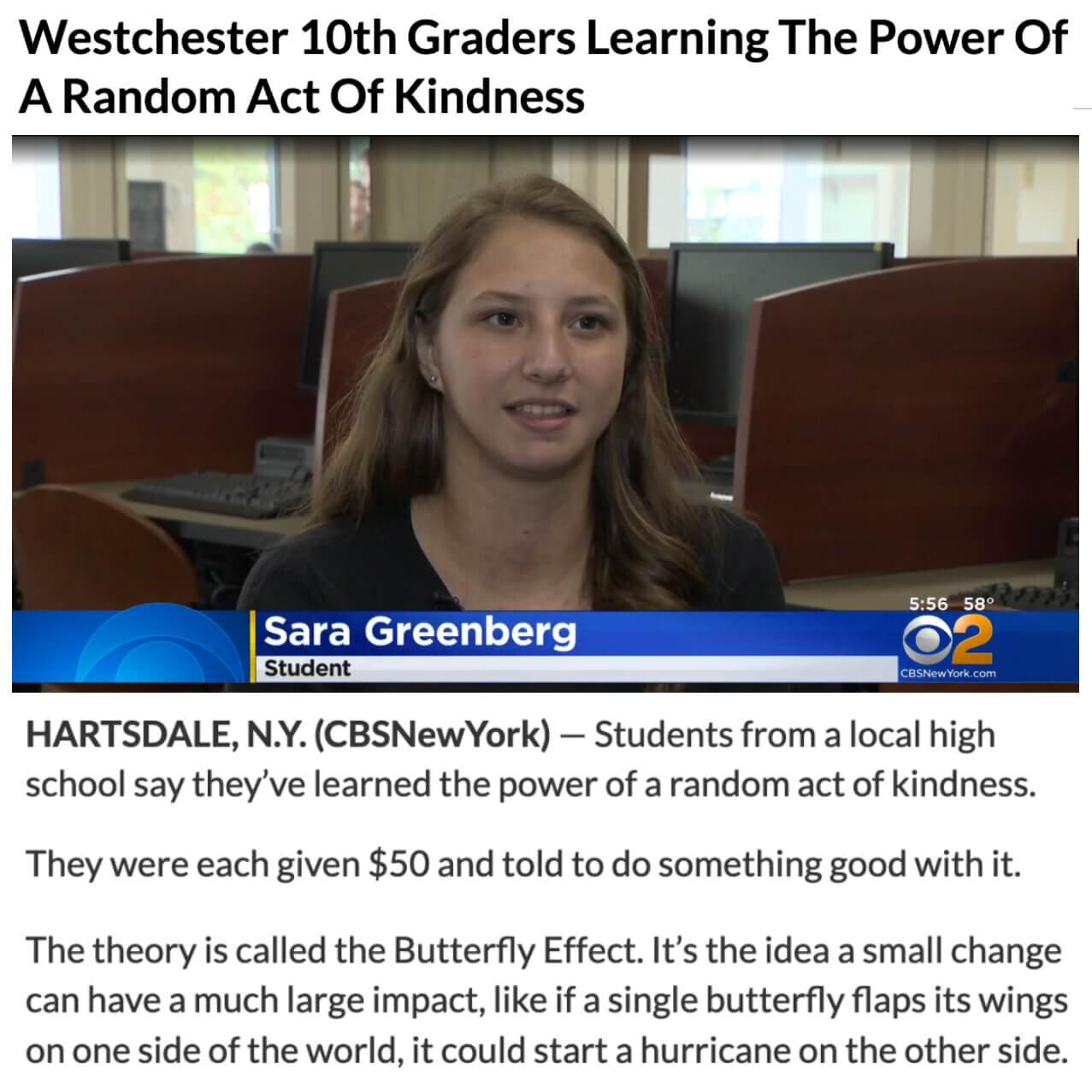 Westchester Butterfly Effect