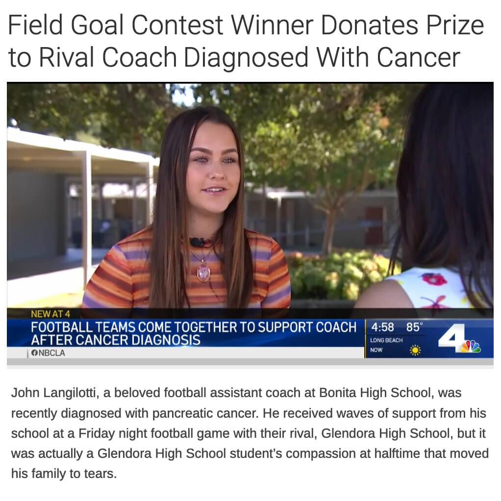 Donates Prize to Rival Coach