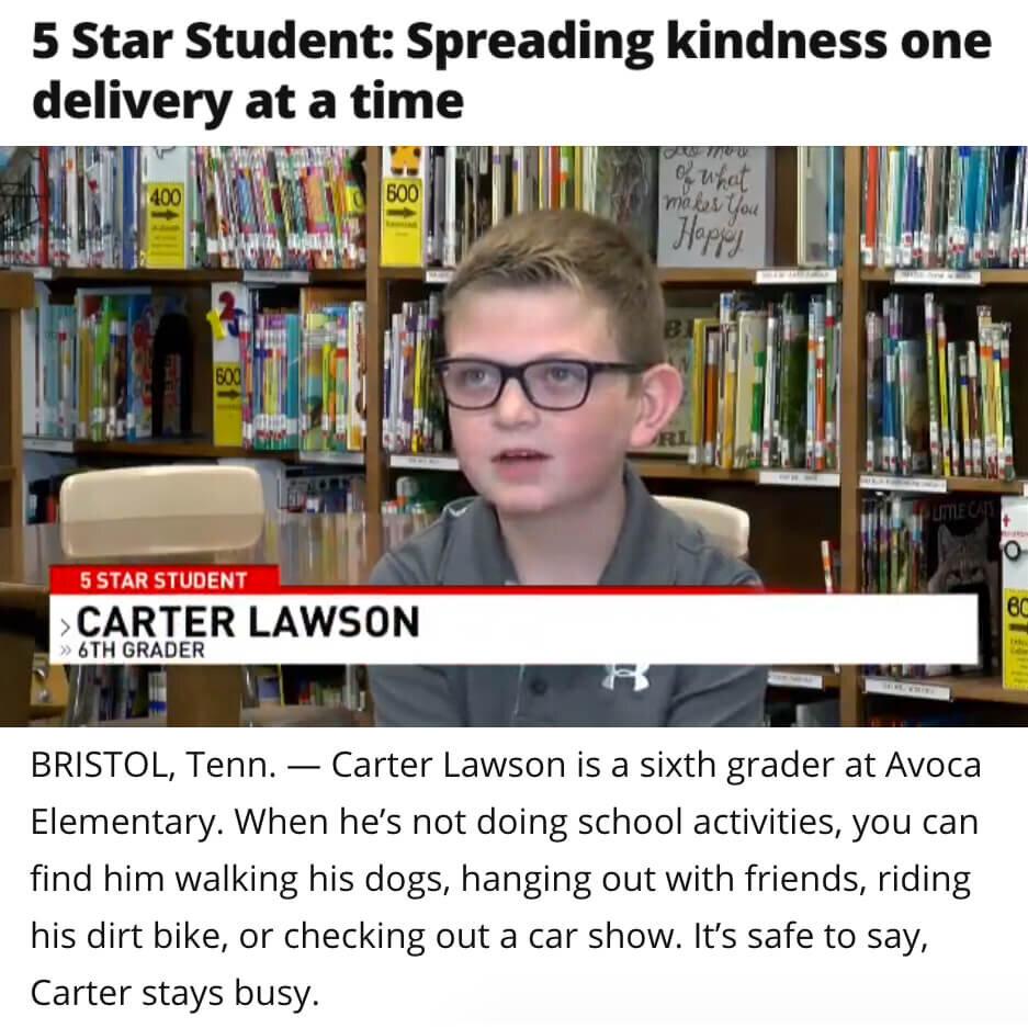 Carter Lawson Delivers Kindness