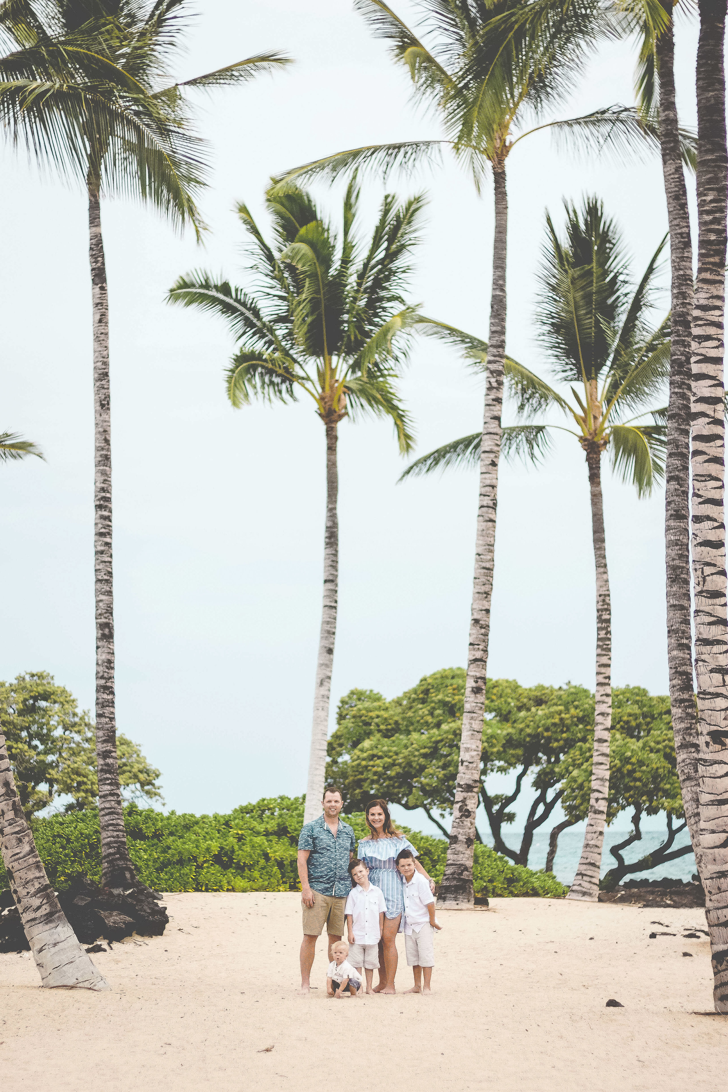 Kona Hawaii family photography photos big island beach and palm trees photographer.jpg