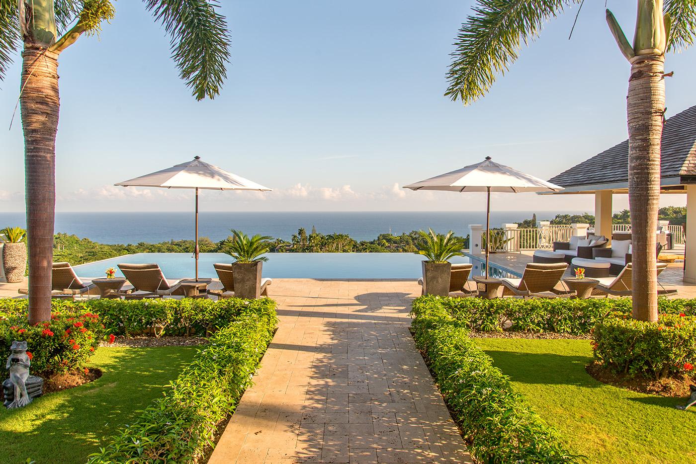 Pool Deck - North View Caribbean Sea