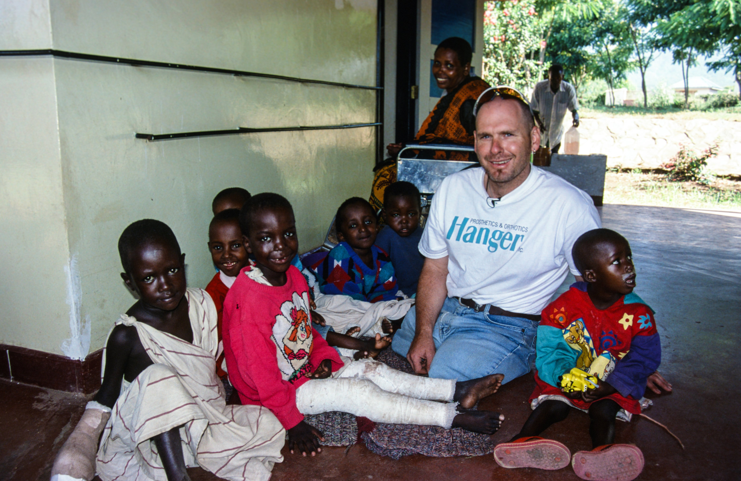 Visiting these kids at the Selian Lutheran Hospital in Arusha was one of the highlights of the Kilimanjaro expedition for Warren.