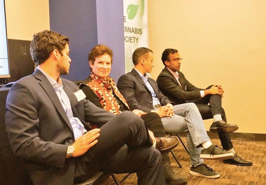 Investments in Cannabis Panel [Right to Left: Evan Schnurmacher, Barb Paley, Tom Zube, Vikas Desai]