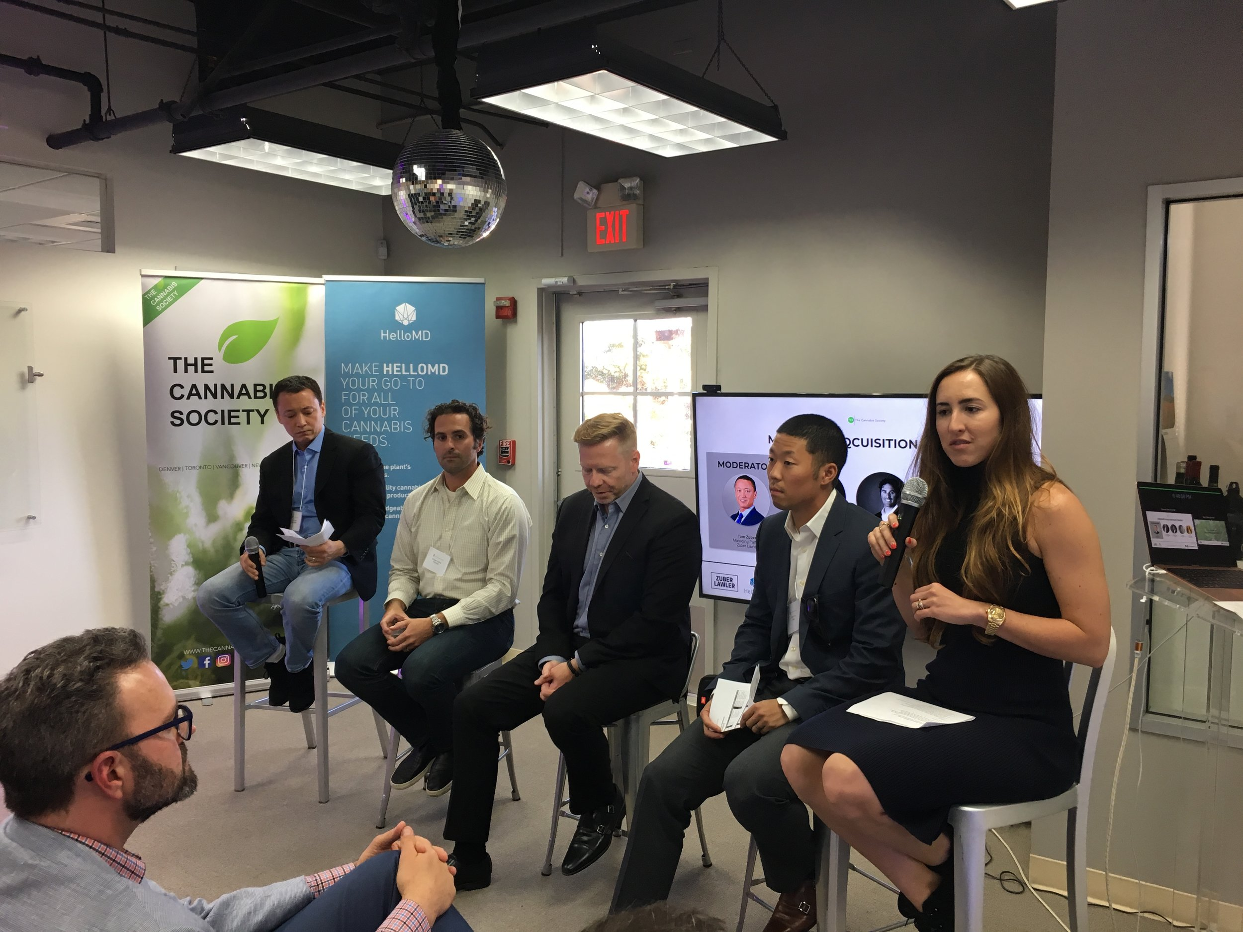 From left to right: Tom Zuber, Morgan Paxhia, Michael Litchfield, Steven Yoo, Codie Sanchez