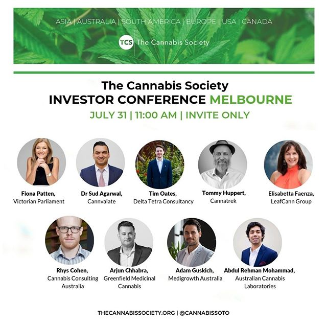 📣SWIPE LEFT to see who will be speaking at our Melbourne Investor Conference on July 31st! Tickets are still available via the link in our bio.  #cannabiscommunity #cannabisinvestors #licensedproducer #cannabislawyer #cannabisculture #cannabisdaily #cannabisindustry #cannabisinfluencer #cbd #cannabissociety #cannabiseducation #cannabislove #cannabiscultivation #cannabislifestyle