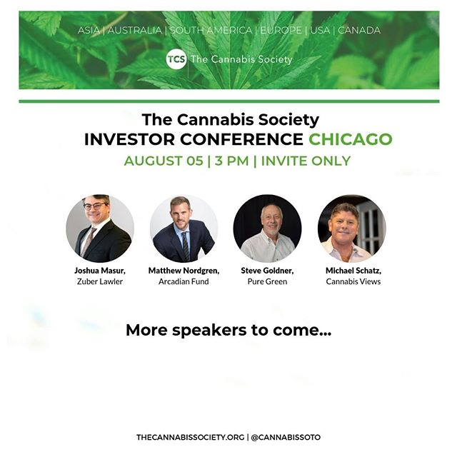 Find out who will be participating at our Chicago Investor Conference on August 5th! More speakers to come! Tickets are still available via the link in our bio.  #cannabiscommunity #cannabisinvestors #licensedproducer #cannabislawyer #cannabisculture #cannabisdaily #cannabisindustry #cannabisinfluencer #cbd #cannabissociety #cannabiseducation #cannabislove #cannabiscultivation #cannabislifestyle #cannabisculture
