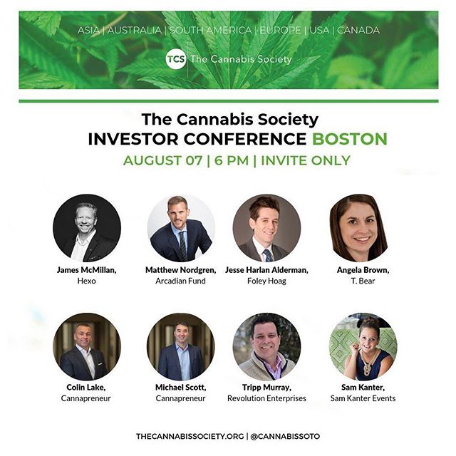 Hey #cannapreneurs! Find out who will be speaking at our Boston Investor Conference on August 7th! Tickets are still available via the link in our bio.  #cannabisinvestors #licensedproducer #cannabisculture #cannabisdaily #cannabisindustry #cannabisinfluencer