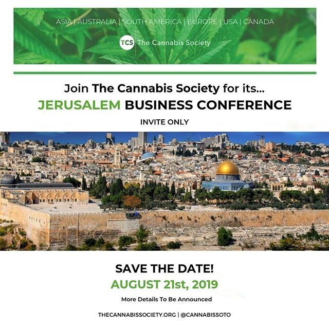 Calling all #Cannapreneurs!  The Cannabis Society will be bringing our Executive Business Conference to #Jerusalem on Wednesday, August 21st. Stay tuned for more information. Limited tickets are still available, so get them via link in the bio! 🎟  #cannabiscommunity #cannabisinvestors #licensedproducer #cannabislawyer #cannabisculture #cannabisindustry #cbd #cannabissociety #cannabiseducation #cannabiscultivation