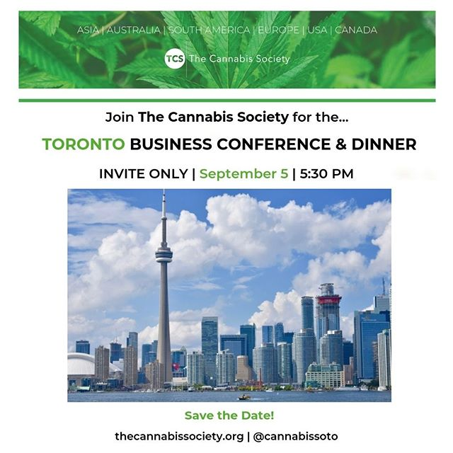 Calling all #Cannapreneurs!  The Cannabis Society is bringing the Business Conference & Dinner to our native #Toronto on Thursday, Sept 5th. Stay tuned for more information!  Tickets are already available - https://buff.ly/2Zzqrn8  #cannabiscommunity #cannabisinvestors #licensedproducer #cannabislawyer #cannabisculture #cannabisdaily #cannabisindustry #cannabisinfluencer #cbd #cannabissociety #cannabiseducation #cannabislove #cannabiscultivation #cannabislifestyle #cannabisculture