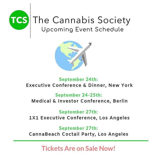 Hey #cannapreneurs!  Take a look at what The Cannabis Society is up to next in the month of September.  For tickets and more information on our conferences, please visit: https://buff.ly/2Lz3ibv  #CannabisCommunity #cannabisculture #cannabisdaily #cannabisindustry