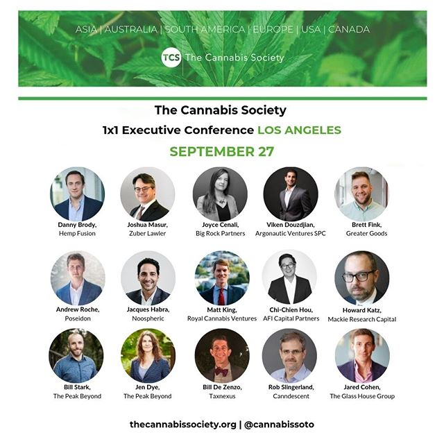 Hey #cannapreneurs!  Find out who will be speaking at our #LosAngeles 1x1 Executive Conference on September 27th!  Tickets are available via the link https://www.universe.com/events/the-cannabis-society-1x1-executive-conference-los-angeles-invite-only-tickets-los-angeles-8Z9T2B  #CannabisCommunity