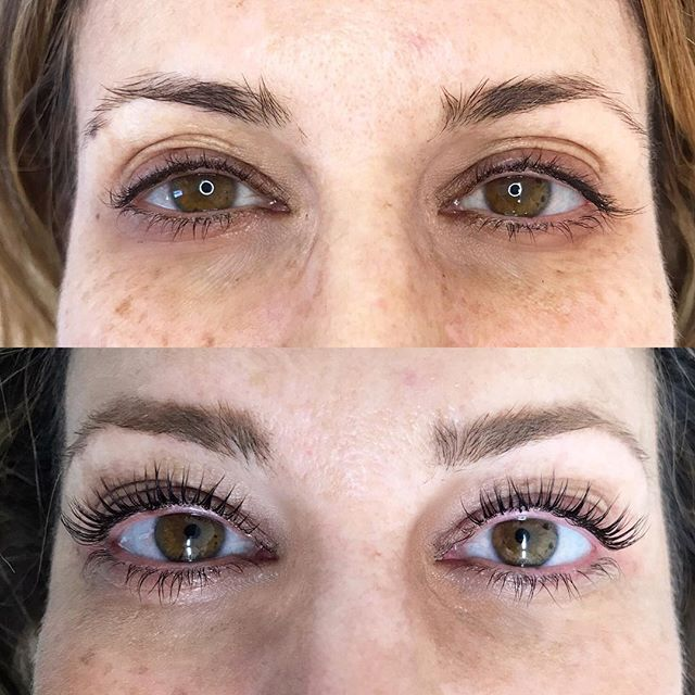 Transformations that happen with a lash lift can be... Wow!! ⚡️