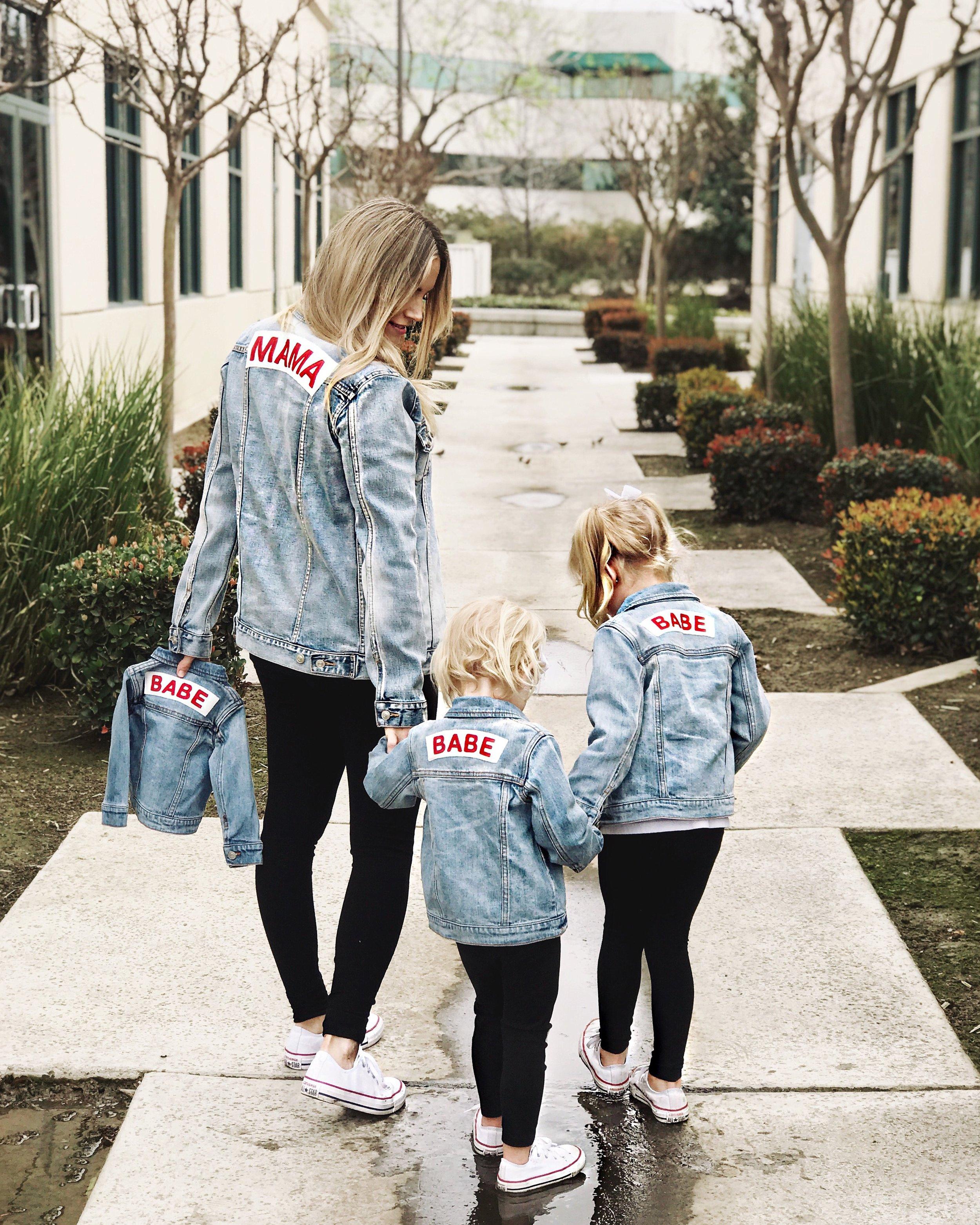 Mama Denim Jacket / Ingrid & Isabel Maternity • @britt_horton