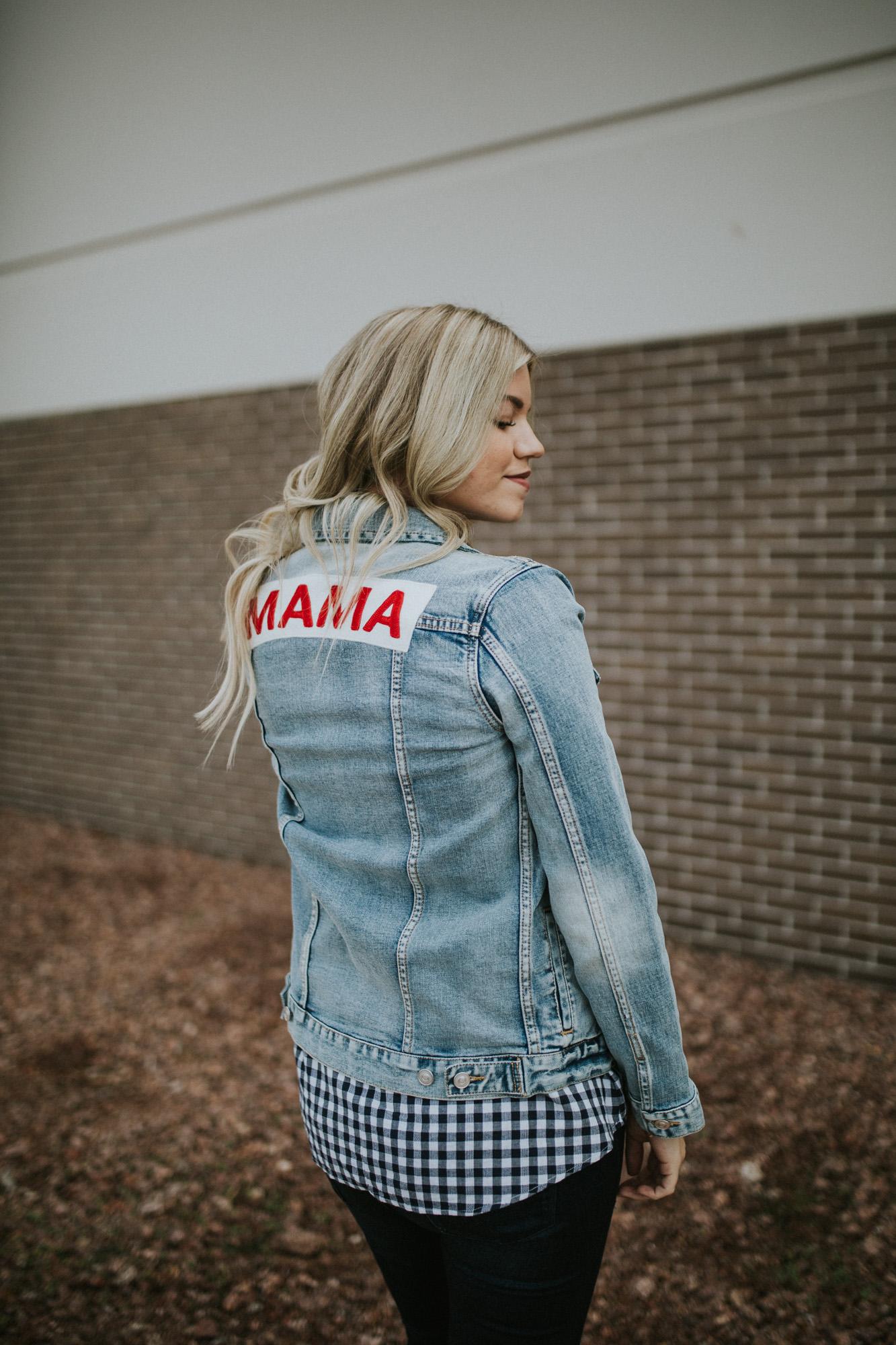 Mama Denim Jacket / Ingrid & Isabel Maternity • @livingincolorblog