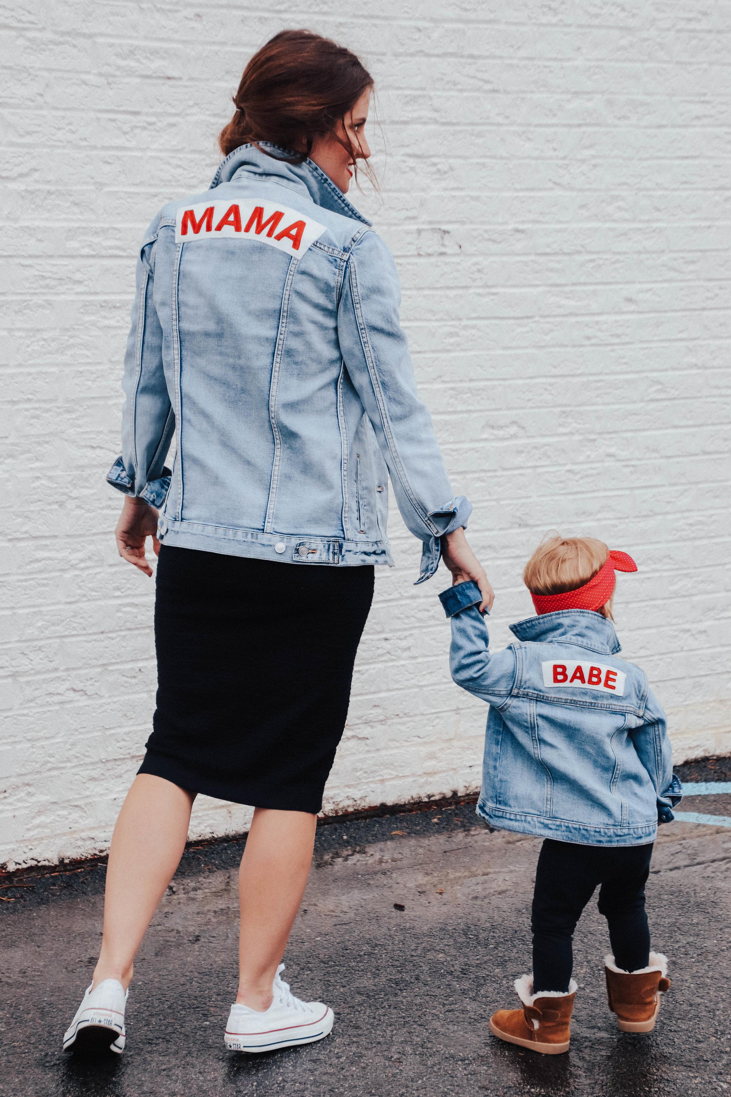 Mama Denim Jacket / Ingrid & Isabel Maternity •@emilybrunotte