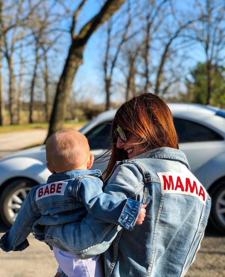 Mama Denim Jacket / Ingrid & Isabel Maternity • @meetlisajones